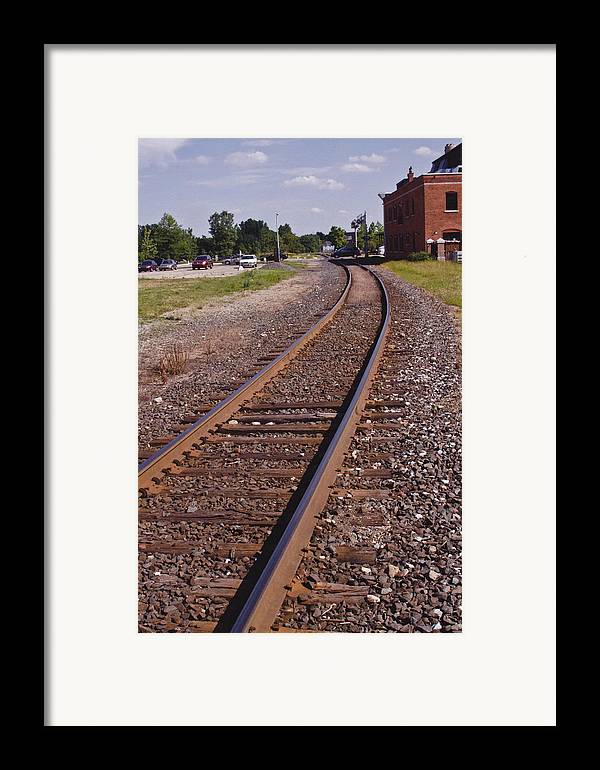 Train Framed Print featuring the photograph The Edge by Xn Tyler