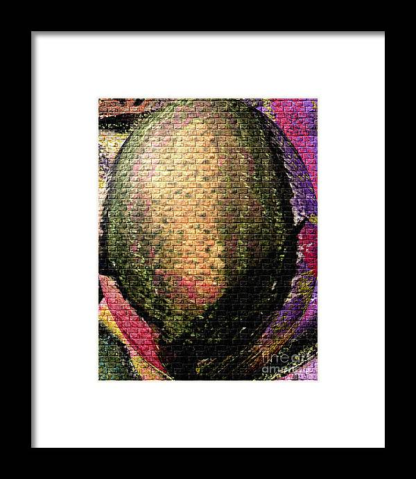 Framed Print featuring the mixed media The Egg Outside Is About To Hatch by Angela L Walker