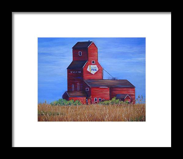 Landscape - Historical Framed Print featuring the painting The Elevator by Maxine Ouellet