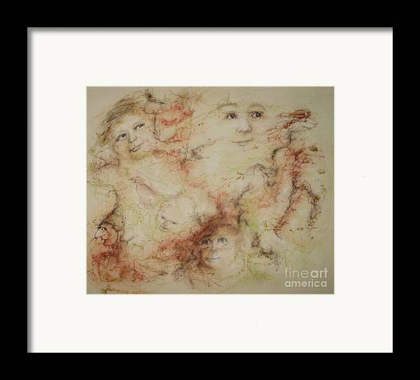 Elves Framed Print featuring the drawing The Elfin Dash by Stephanie H Johnson