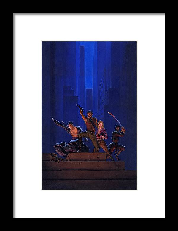 Space Framed Print featuring the painting The Eliminators by Richard Hescox