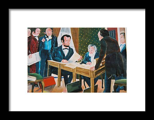 Historical Framed Print featuring the painting The Emancipation by Desenclos Patrick