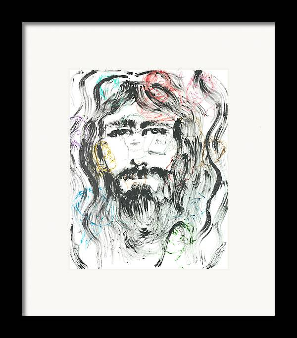 Jesus Framed Print featuring the painting The Emotions Of Jesus by Nadine Rippelmeyer