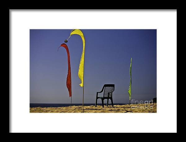 Beach Framed Print featuring the photograph The Empty Chair by Sheila Smart Fine Art Photography