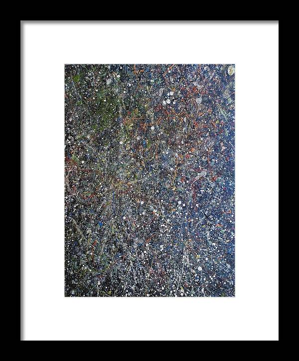Space Framed Print featuring the painting The Empyreal Deep by Steven Dean
