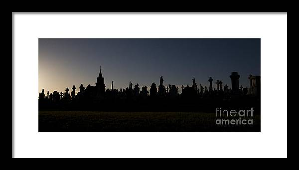 Cementary Framed Print featuring the photograph The End Of Life by Angel Ciesniarska