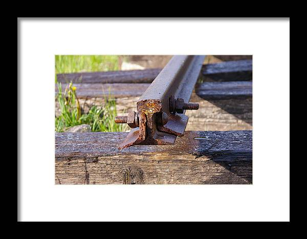 Historic Framed Print featuring the photograph The End Of The Line by Cynthia Cox Cottam