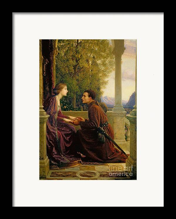 The Framed Print featuring the painting The End Of The Quest by Sir Frank Dicksee