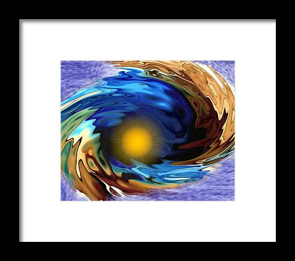 Creation Framed Print featuring the digital art The end.The beginning by Dr Loifer Vladimir