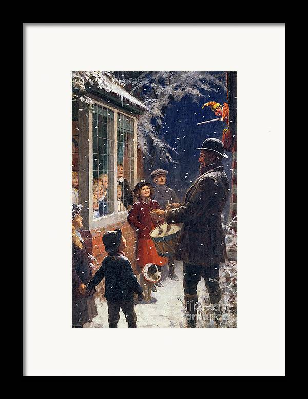 The Framed Print featuring the painting The Entertainer by Percy Tarrant