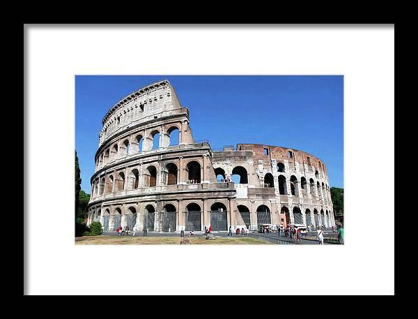 Rome Colosseum Framed Print featuring the photograph The Epitome Of History by Stephen Schwiesow