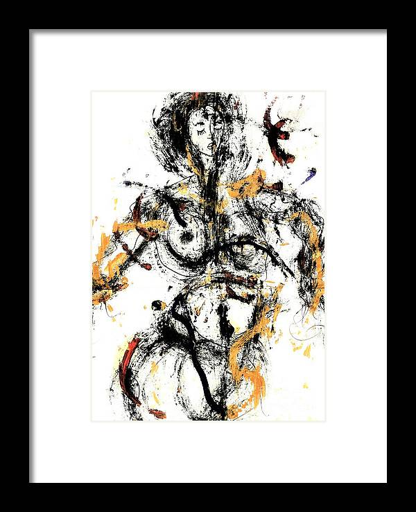 Abstract Framed Print featuring the painting The Ethiopian Mistress by Dr Ernest Williamson III