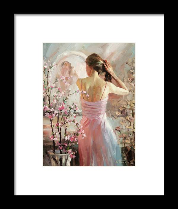 Woman Framed Print featuring the painting The Evening Ahead by Steve Henderson