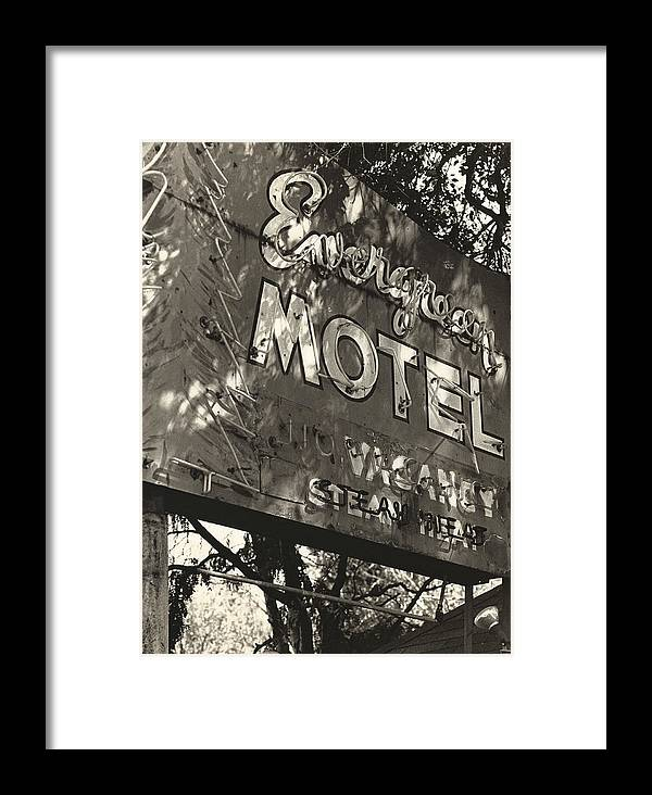 1950s Framed Print featuring the photograph The Evergreen On Santa Fe by Jim Furrer