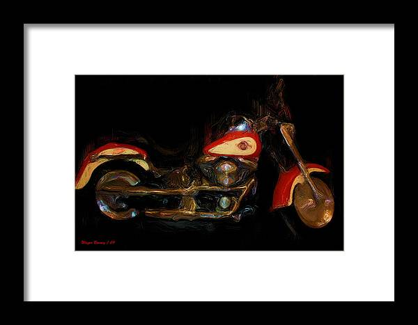 Smeary Framed Print featuring the painting The Evo Fatboy by Wayne Bonney