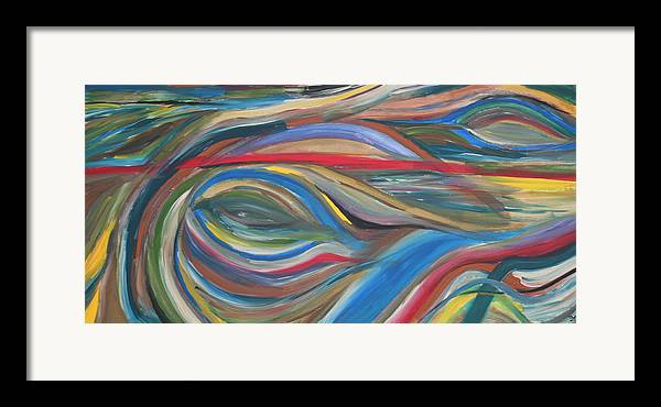 Abstract Artwork Framed Print featuring the painting The Eye by Shiree Gilmore