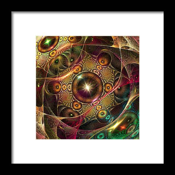 Fractal Framed Print featuring the digital art The Eyes Of A Stranger Is Near. . by Tautvydas Davainis
