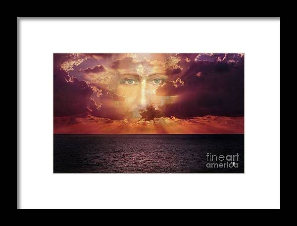 Jesus Framed Print featuring the digital art The Face Of Christ by Yolanda Chavarria