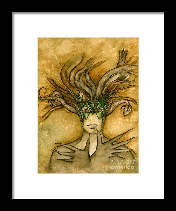 Dryad Framed Print featuring the painting The Face Of Dryad by Alysa Fioretzi