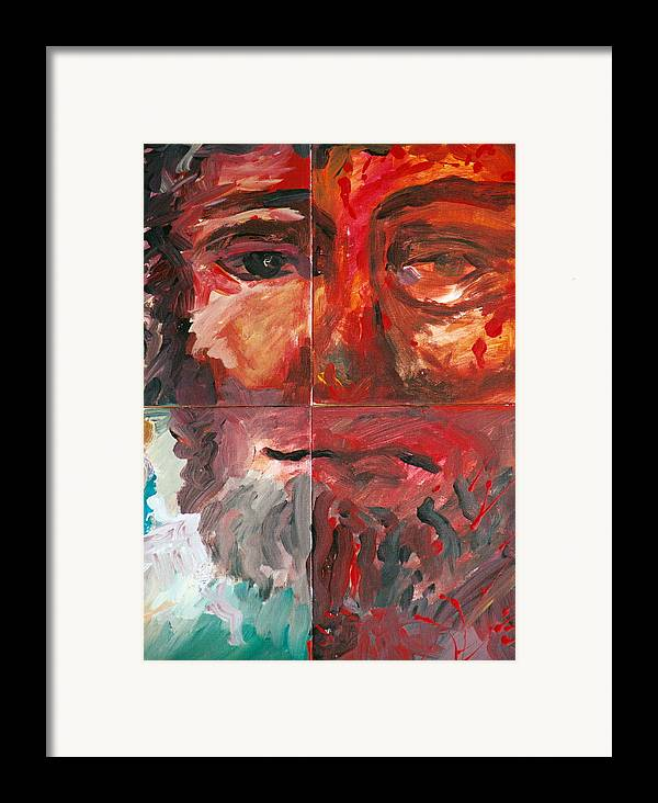 Jesus Framed Print featuring the painting The Face Of Love by Jun Jamosmos