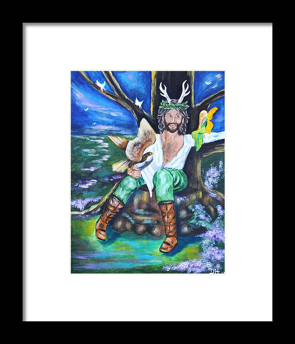 Faery Framed Print featuring the painting The Faery King by Diana Haronis