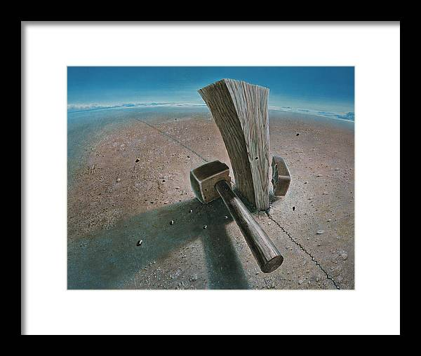 Concept Framed Print featuring the painting The Failure by De Es Schwertberger