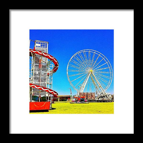 Blue Framed Print featuring the photograph The Fair On Blacheath by Samuel Gunnell