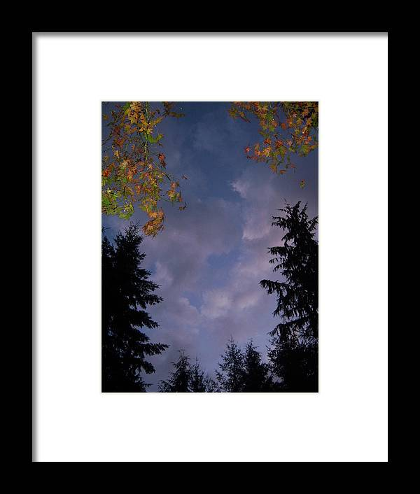 Autumn Framed Print featuring the photograph The Fall Evening Sky by Ken Day