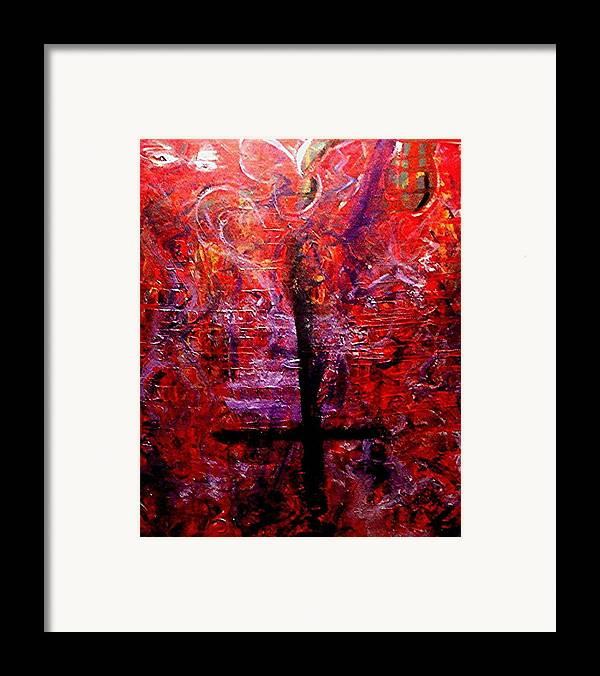 God Framed Print featuring the painting The Fallen Christian by Richard Hubal