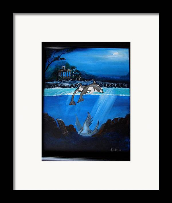 Seascape Framed Print featuring the painting The Fallen by Glory Fraulein Wolfe