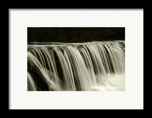 Waterfalls Framed Print featuring the photograph The Falls by Timothy Johnson