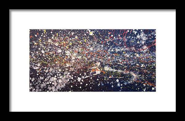 Space Framed Print featuring the painting The Far Domain by Steven Dean