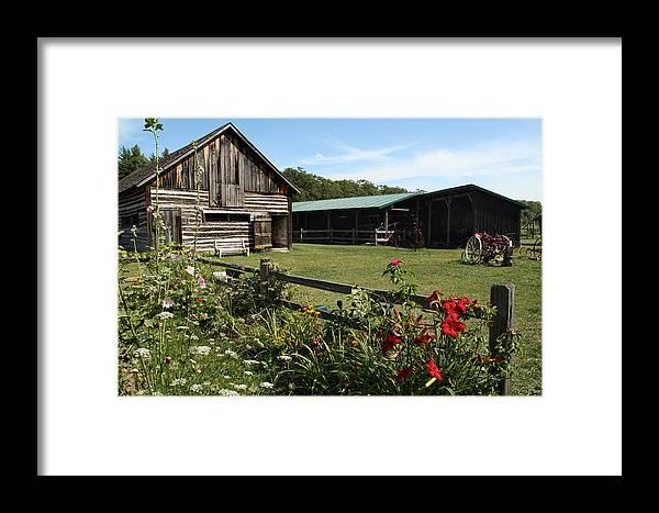 Washington Island Farm Museum Framed Print featuring the photograph The Farm by Joanne Coyle