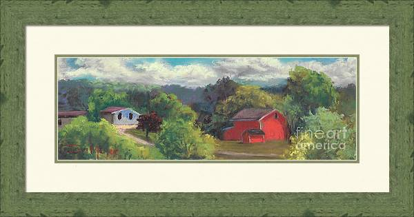 Rural Landscape Framed Print featuring the painting The Farm To The East by Terri Meyer