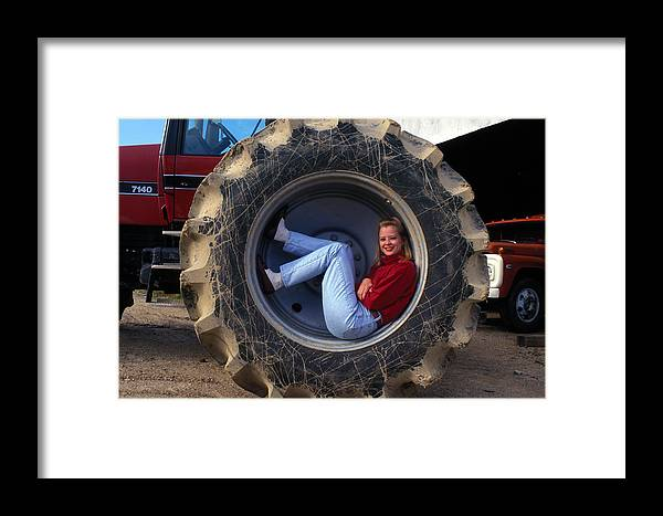 Pretty Framed Print featuring the photograph The Farmer's Daughter by Carl Purcell