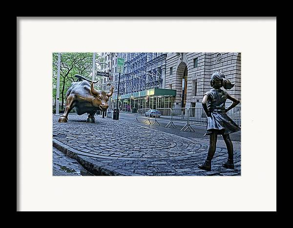 The Fearless Girl Framed Print By Nick Difi