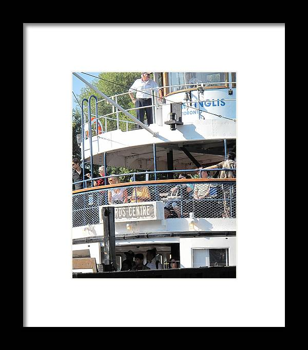 Ferry Framed Print featuring the photograph The Ferry Arrives by Ian MacDonald