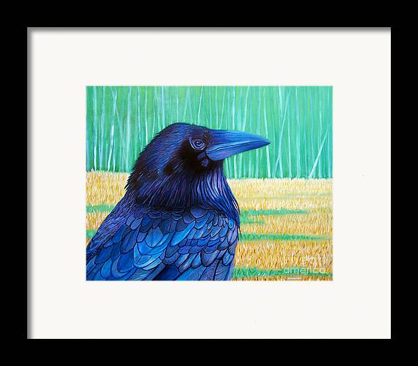 Raven Framed Print featuring the painting The Field Of Dreams by Brian Commerford