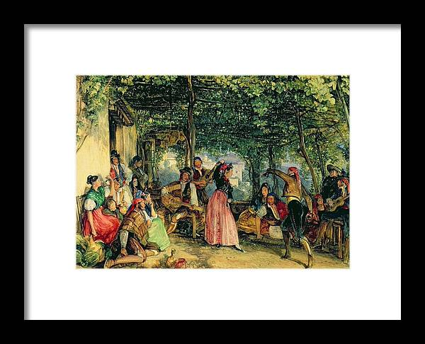 John Frederick Lewis(1804-1876)-orİentalİsm-(the Fiesta At Granada_19th Century) Framed Print featuring the painting The Fiesta At Granada by John Frederick