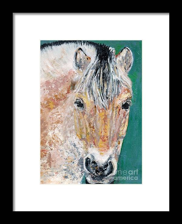 Fijord Horse Framed Print featuring the painting The Fijord by Frances Marino
