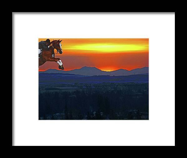 Al Bourassa Framed Print featuring the photograph The Final Hurdle by Al Bourassa