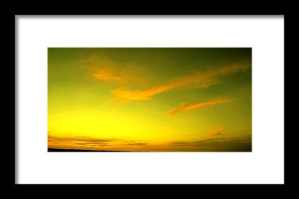 Sunset Framed Print featuring the photograph The Final Light Is Gold by Ian MacDonald