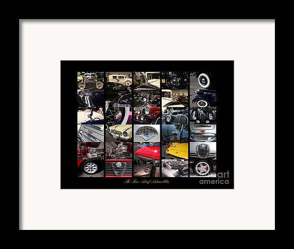 Car Framed Print featuring the photograph The Fine Art Of Automobiles by Wingsdomain Art and Photography