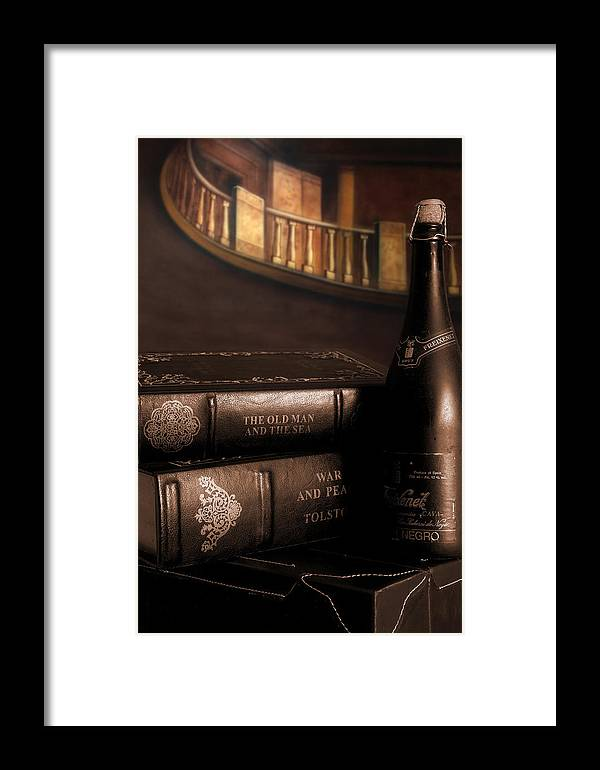 Wine Framed Print featuring the photograph The Finer Things by Steve Parrott
