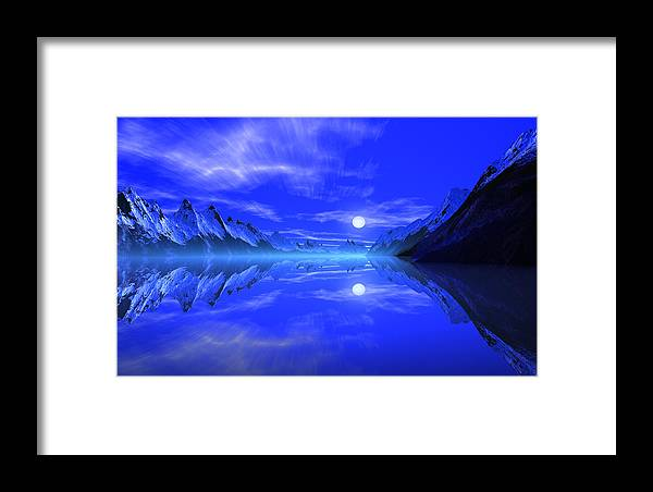 David Jackson The Fiords Of Thor Alien Landscape Planets Scifi Framed Print featuring the print The Fiords Of Thor. by David Jackson