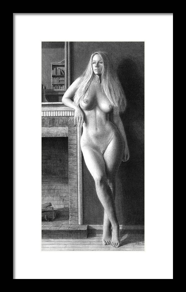 Muse Framed Print featuring the painting The Fire Within prints only by Joseph Ogle