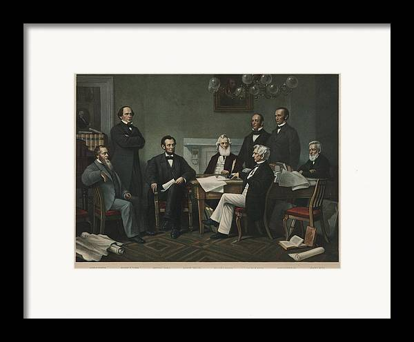 History Framed Print featuring the photograph The First Reading Of The Emancipation by Everett