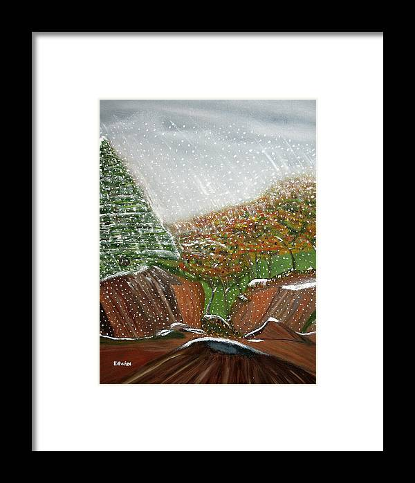 Snow Framed Print featuring the painting The First Snow by Edwin Long