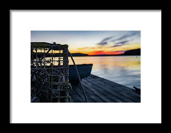 Sunset Framed Print featuring the photograph The Fisherman's Life by John Gagnon