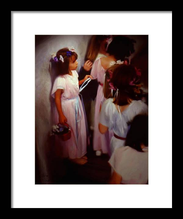 Children Framed Print featuring the painting The Fisrt May Day Dance by Stephen Lucas